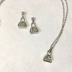 """Handbag"" Necklace and Earrings"